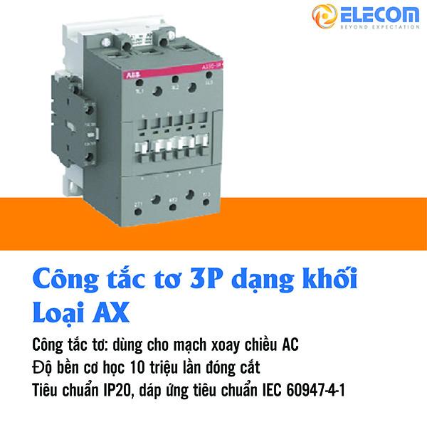 contactor 3P dang khoi loai AX